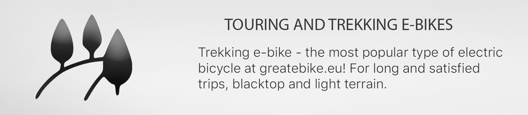 Trekking e-bike - the most popular type of electric  bicycle at greatebike.eu! For long and satisfied trips, blacktop and light terrain.