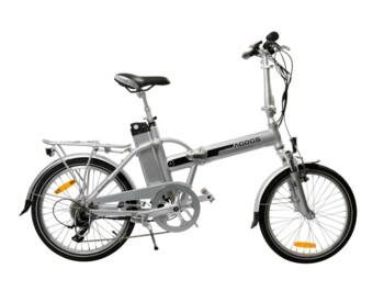 A legendary folding electric bicycle with genuine accessories.