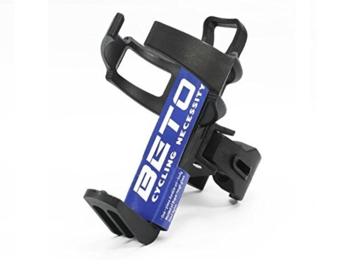 Bottle holder with clip for clamping.