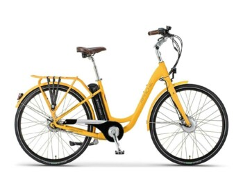 A comfortable urban e-bike with a silent Bafang drive.
