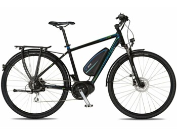 A trekk e-bike with a Bafang MaxDrive motor with a maximum power output of 520 W and a torque of up to 80 Nm.