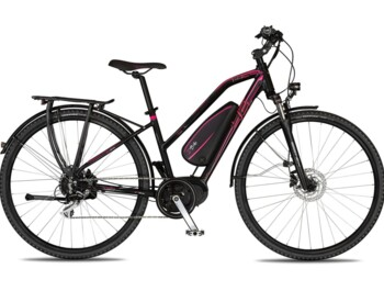 Touring e-bike for ladies from a Czech manufacturer with a Lithium-Ion 500Wh high-capacity battery.