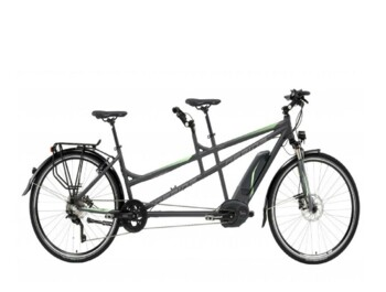 Electric tandem bicycle, unique on the market.