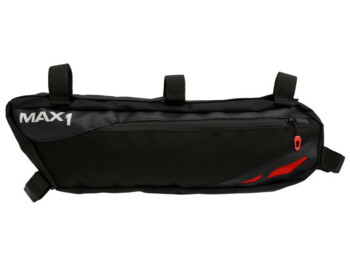Frame bag with volume of 2800 cm3.