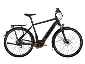 Trekking e-bike with Bosch Performance CX central drive, 600W of rated power and a torque up to 70Nm.