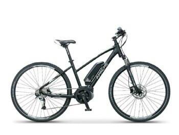 An eMTB with a Bosch active central motor, 420W of rated power and a torque up to 48Nm.