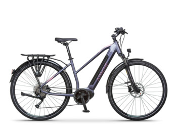 Trekking e-bike with a Bafang MaxDrive motor, 520W of rated power and a torque up to 80Nm.