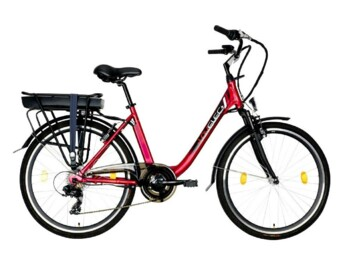 An economical city e-bike with a rear motor.