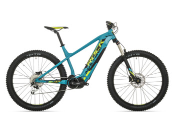 Trail e-bike Rock Machine Blizz INT e50-27+ with 130 mm travel front suspsension fork, Shimano Steps E8000 central drive with up to 70 Nm of torque and fully integrated battery.