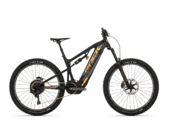 Full-suspension trail eMTB Rock Machine Blizzard INT e30 with Shimano Steps E7000 central drive.