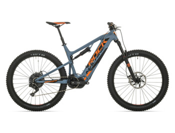 Full-suspension trail eMTB Rock Machine Blizzard INT e90 with Shimano Steps E8000 central drive system.