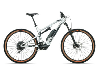 Full-suspension e-bike with a Shimano Steps E8000 central motor and maximum torque up to 75Nm.