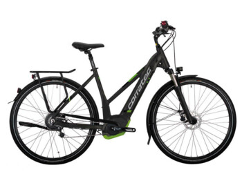 Trekking e-bike with strong  Bosch Performance CX central drive and battery fully integrated into the frame.