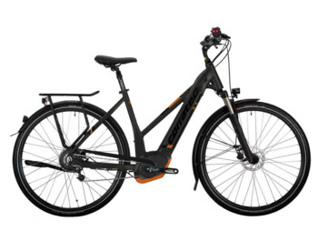 Trekking e-bike with strong  Bosch Performance central drive and battery fully integrated into the frame.