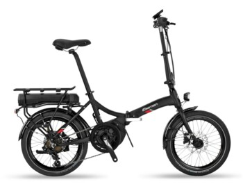 Unique folding e-bike with central Yamaha engine.