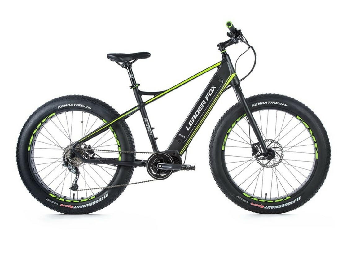 "LEADER FOX Braga Fatbike 26"" 2020 - mountain e-bike - central drive Bafang"