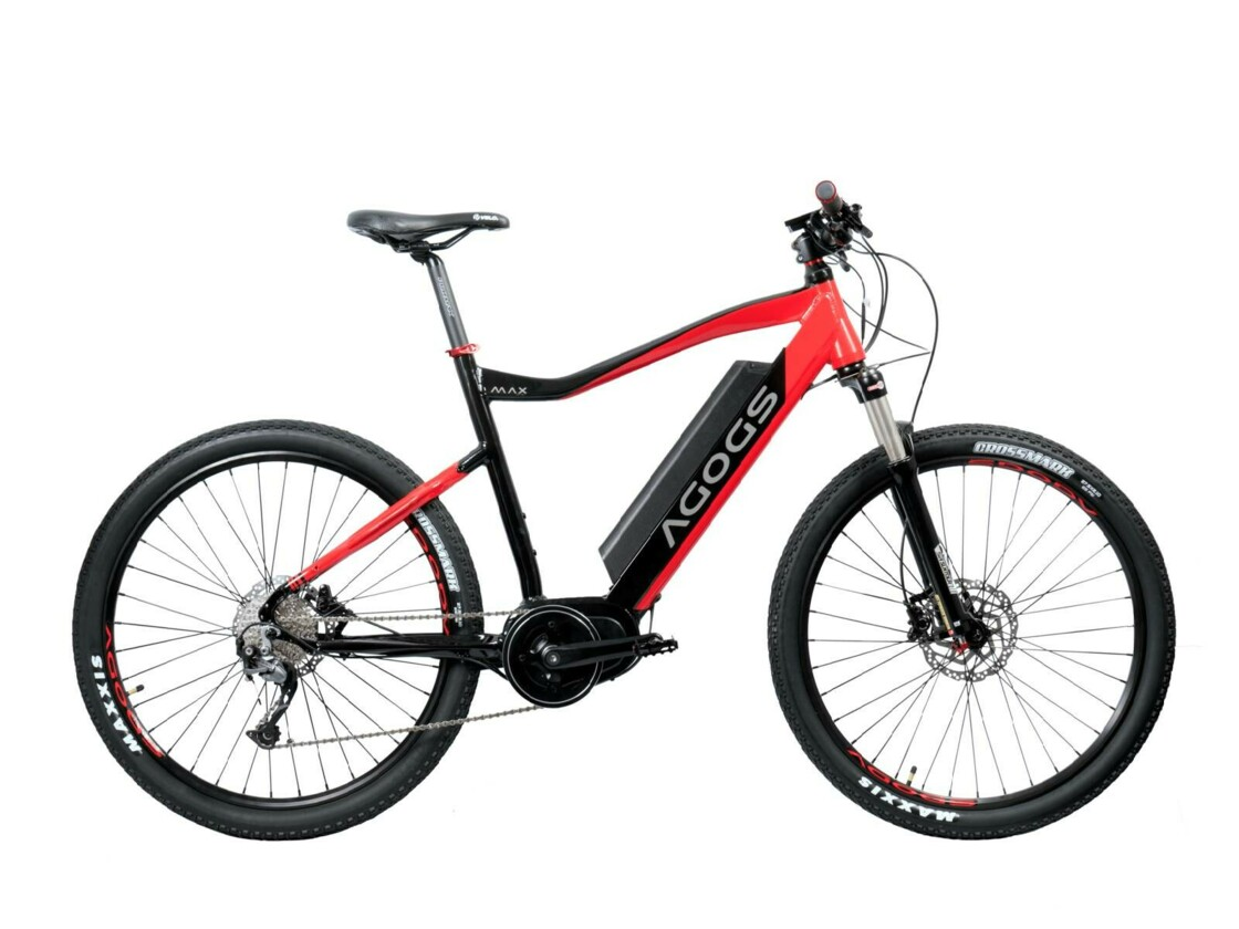 AGOGS Max-R - eMTB with air suspension fork - central motor Bafang