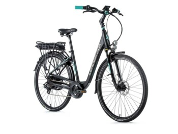 "Urban electric bicycle from Czech manufacturer with low step frame and 28"" wheels."