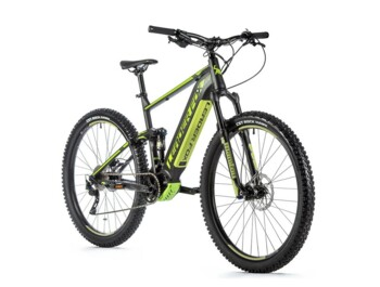 Full-suspension mountain electric bike with new Bafang M500 central engine.