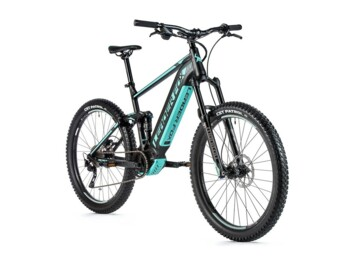 Full-suspension mountain electric bike with new Bafang M500 central motor.