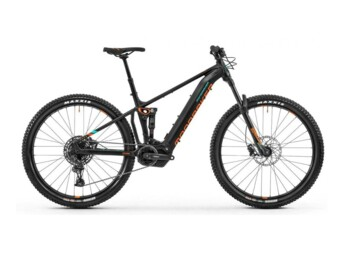 Hardtail e-bike with a Shimano E8000 central motor and Sram SX derailleur.