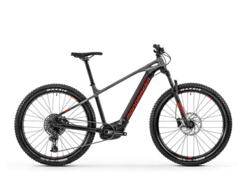 A hardtail e-bike with a Bosch Performance CX central motor and Sram SX derailleur.