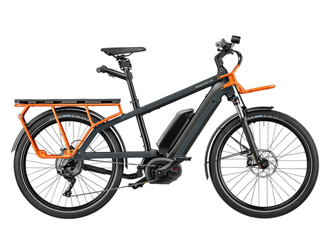 Riese & Müller The Nevo GT touring - utility grey color / optional equipment: passenger kit, DualBattery 1000