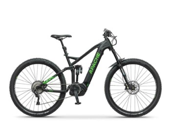 Full-suspension eMTB with a Bosch Performance CX central motor providing maximum power of 600W and torque of up to 75Nm.