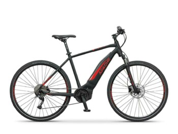 A cross e-bike with a Bosch Active motor providing maximum torque of 48Nm and maximum power of 420W.