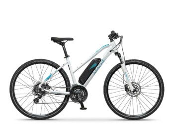 Cross e-bike with Silent Plus rear hub drive providing nominal power of 250W and maximum torque up to 32Nm.