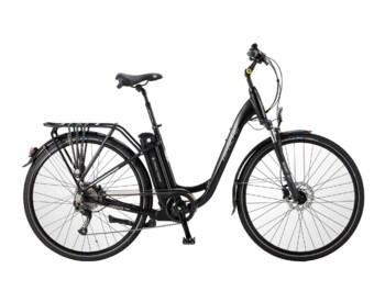 Urban low step e-bike with Silent Plus rear drive providing nominal power of 250W and maximum torque up to 32 Nm.