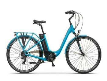 "Urban low step e-bike with Silent Plus rear drive providing nominal power of 250W and maximum torque up to 32 Nm. You can choose 26"" or 28"" rims."