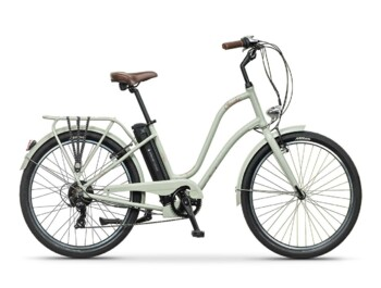 Urban low step e-bike with Silent Plus rear drive with nominal power of 250W and maximum torque up to 32 Nm.