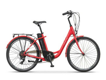 Urban low step e-bike with Silent Plus rear drive and Shimano Nexus planetary gearbox.