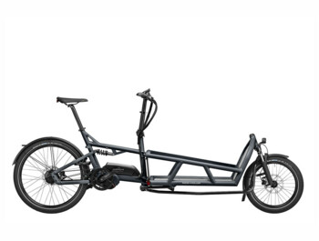 A versatile cargo e-bike with a powerful Bosch Cargo Line Cruise motor and rear suspension.