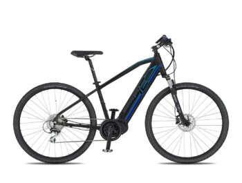 Trekking e-bike with a Bafang MaxDrive motor, maximum power of 520W and a torque up to 80Nm.