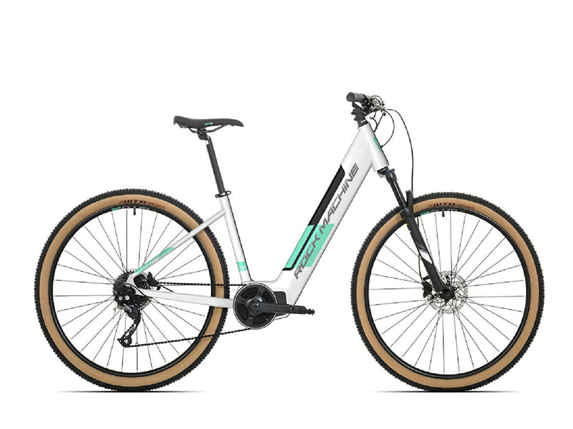 E-bike ROCK MACHINE Storm INT e70-29 lady - white-mint