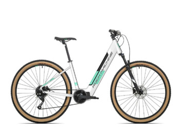 "Modern women's e-bike with a powerful motor and comfortable 29 ""wheels.