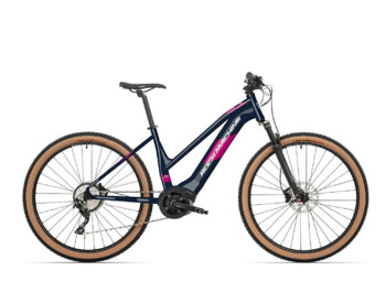 Women's mountain e-bike with improved control and maximum comfort.