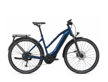 Women's trekking e-bike with a powerful SyncDrive Sport motor, an integrated 500 Wh battery and a Giant RideControl control unit. The lowered frame allows for a more comfortable fit. Explore E+ 2 STA is a great companion on any route.