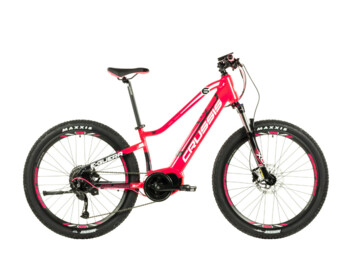 Girl's junior mountain electric bike. Thanks to its great practicality and great equipment such as a reliable Bafang engine or extremely high-quality Shimano brakes, you can go on trips to nature, plains and mountains.