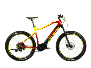 "Well-equipped men's mountain e-bike designed primarily for off-road riding. 27.5"" wheels and modern geometry ensure great stability, and thanks to the Bafang Max Drive engine, an extra strong 720 Wh battery and Shimano brakes, you can be sure that the e-bike will take maximum care of you."