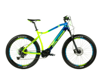 One of the most popular and best-selling mountain e-bikes. e-Atland 9.6-S with Bafang M500 center engine.