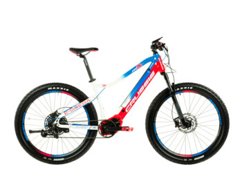 "Mountain e-bike with Bafang M500 engine, fully integrated 630 Wh Panasonic battery, 27.5"" wheels and Shimano brakes. Modern geometry adapted for ladies ensures maximum comfort and great stability when riding even in more difficult terrain."