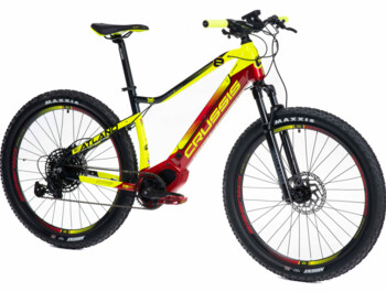 "Modern and very functional mountain e-bike with extra strong battery, central OLI motor and Shimano brakes on 27.5"" wheels designed for off-road riding and cycle paths. With a range of up to 170 km."