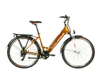 A model that is ideal for trips to the city, work or easy trips. Functional geometry with a low frame tube, a fully integrated 468 Wh battery and a rear hub engine ensure maximum comfort and statility on the road.