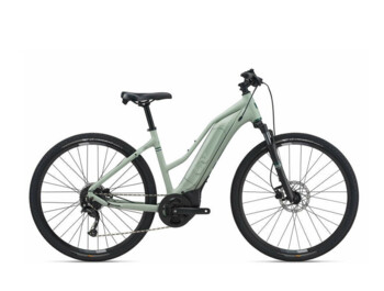 The new Rove E + model is the most affordable women's touring e-bike from the LIV brand. It boasts Yamaha's new SyncDrive Core engine with SmartAssist mode and is powered by an EnergyPak 400 lithium battery.