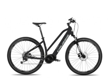 Women's cross electric bike with a central Bafang Max Drive engine designed for trips of all kinds on roads and bike paths.