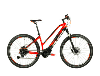 Women's cross electric bike with a central OLI electric motor and a powerful battery. It's time to go on a great trip.