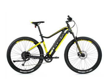Mountain e-bike with a Bafang rear engine, integrated battery with a capacity of 540 Wh, sporty design, sprung front fork, disc brakes and LCD display with push-button control.